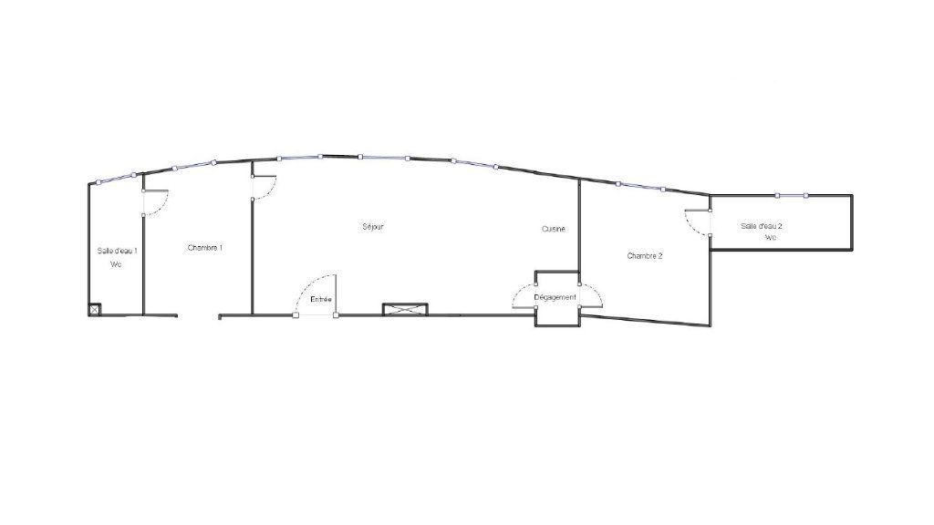 Appartement à vendre 3 57.3m2 à Èze plan-1