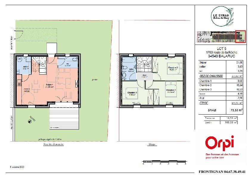 Maison à vendre 4 75.53m2 à Balaruc-les-Bains vignette-2