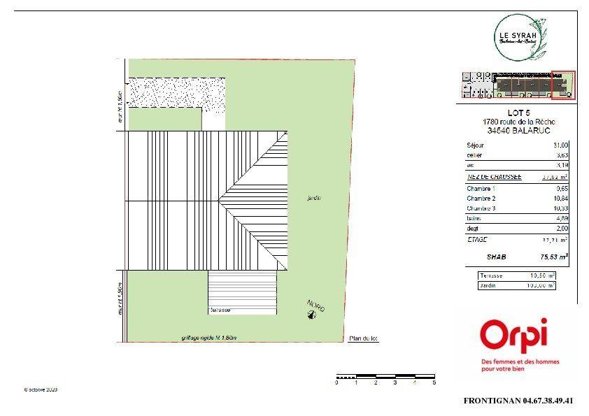 Maison à vendre 4 75.53m2 à Balaruc-les-Bains vignette-3