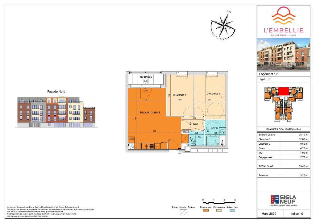 Appartement à vendre 3 55.4m2 à Dunkerque vignette-3