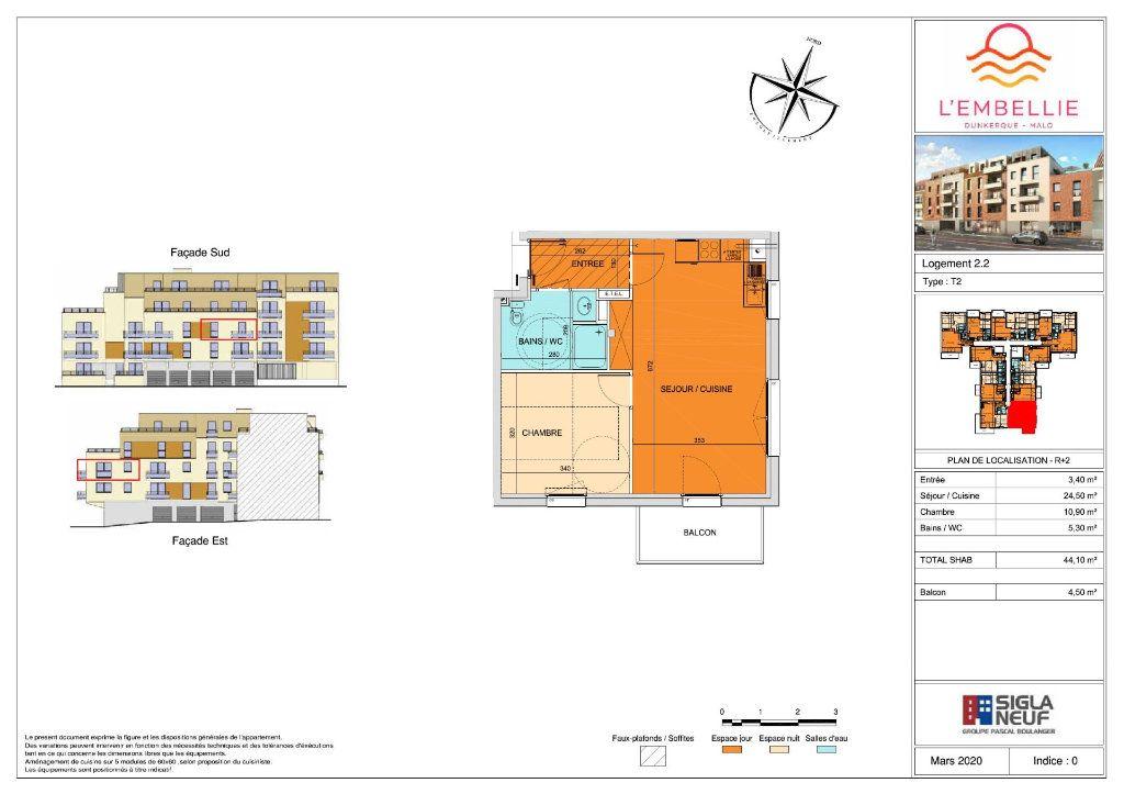 Appartement à vendre 2 44.1m2 à Dunkerque vignette-3