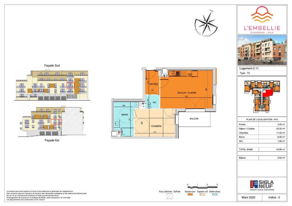 Appartement à vendre 2 43.8m2 à Dunkerque vignette-3