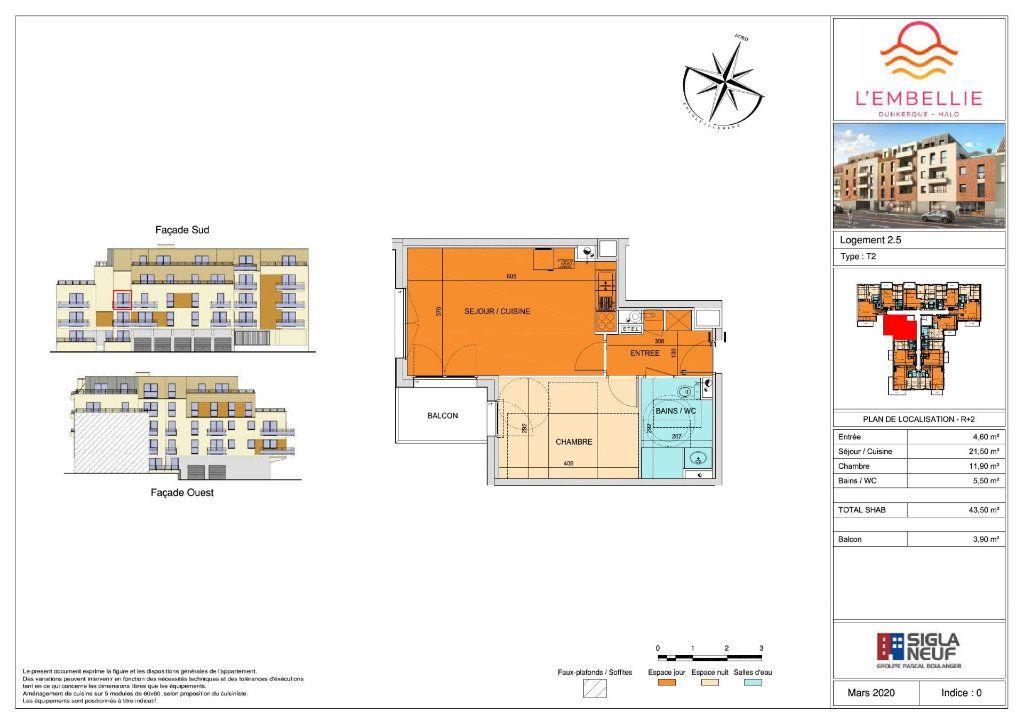 Appartement à vendre 2 43.5m2 à Dunkerque vignette-3