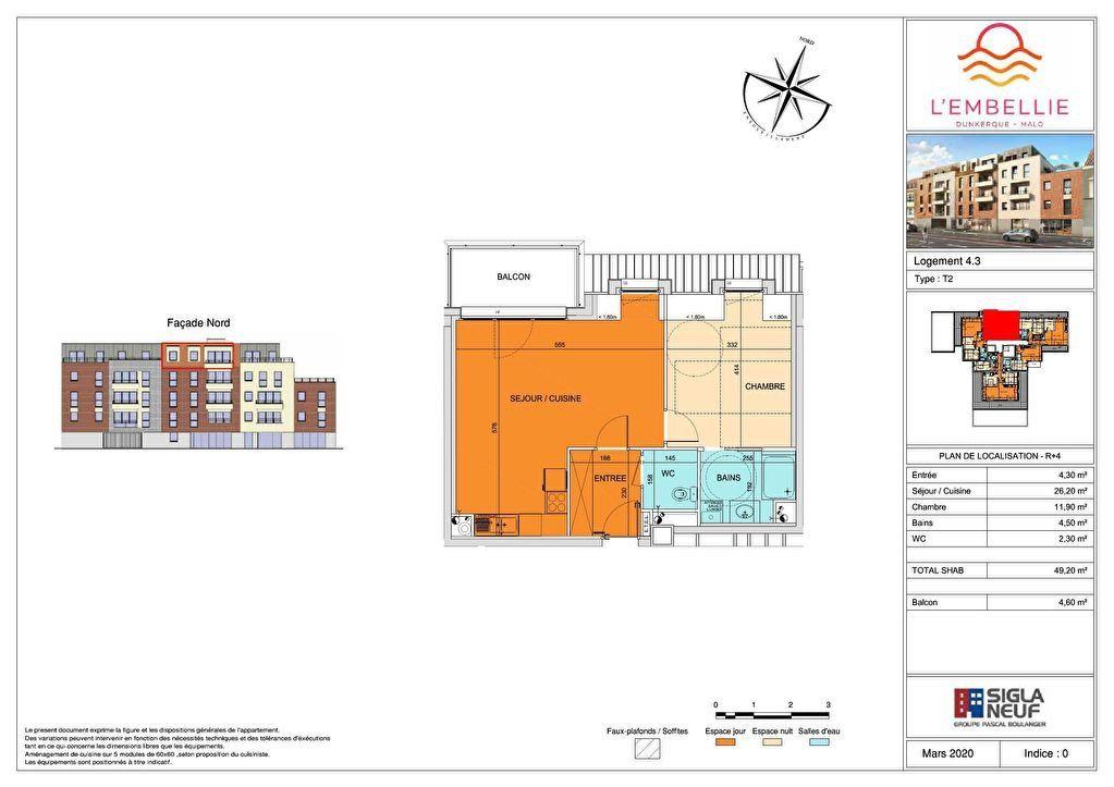 Appartement à vendre 2 49.2m2 à Dunkerque vignette-4