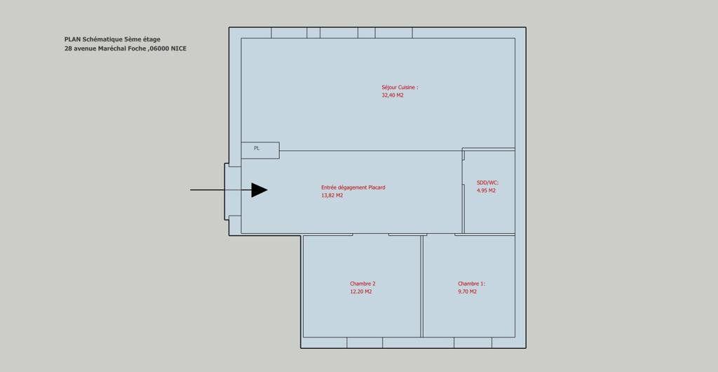 Appartement à vendre 73.07m2 à Nice