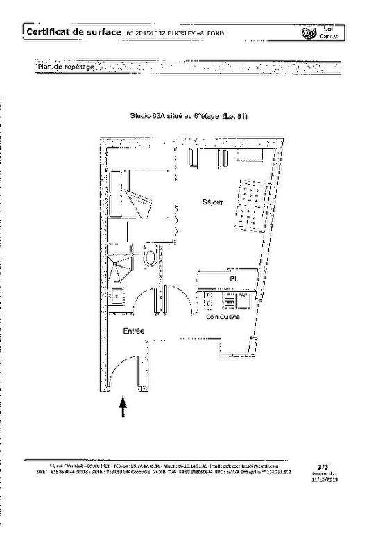 Appartement à vendre 1 27.82m2 à Nice plan-1