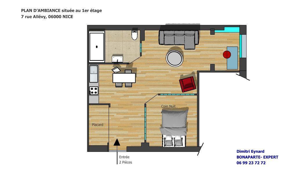 Appartement à vendre 44m2 à Nice