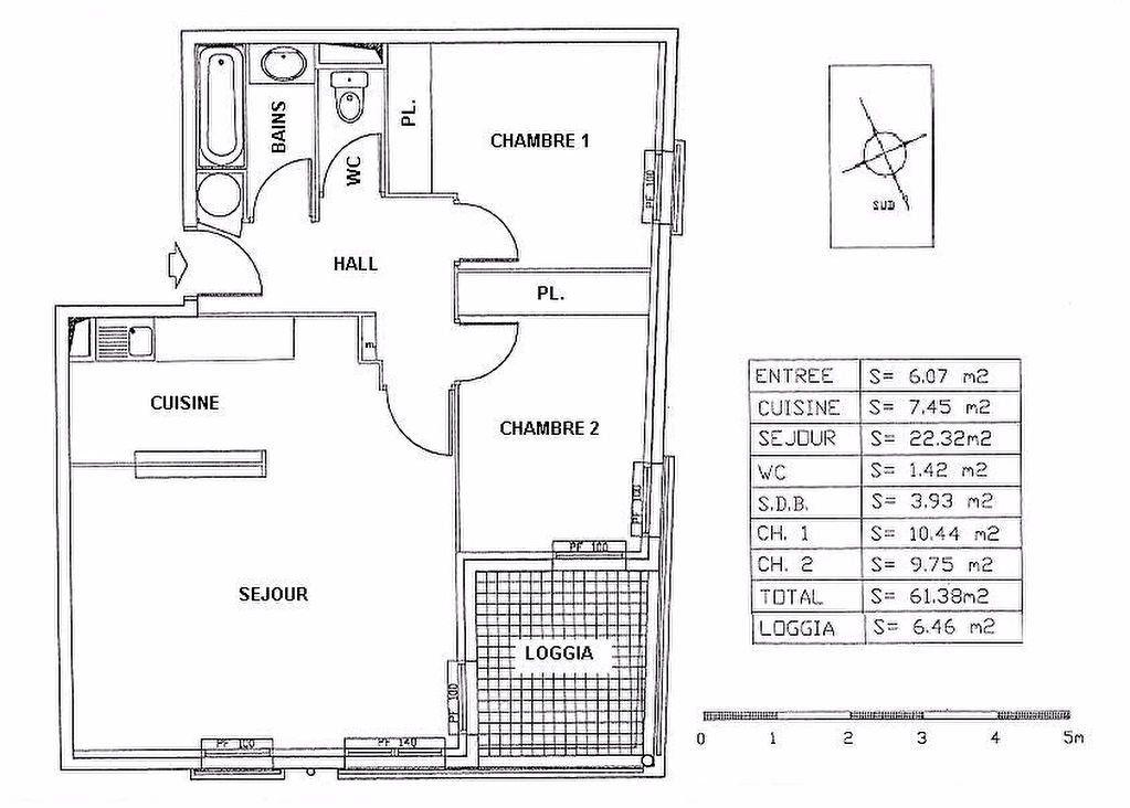 Appartement à louer 3 61.4m2 à Cagnes-sur-Mer vignette-4
