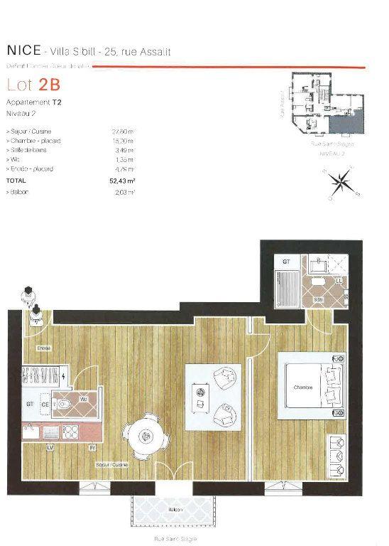 Appartement à louer 2 49.19m2 à Nice plan-1