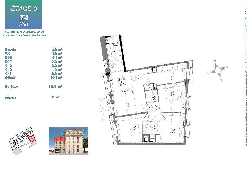 Appartement à vendre 4 68.4m2 à Nice vignette-4