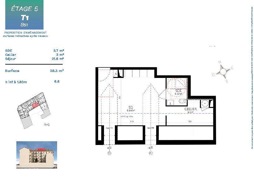 Appartement à vendre 1 28.3m2 à Nice vignette-2