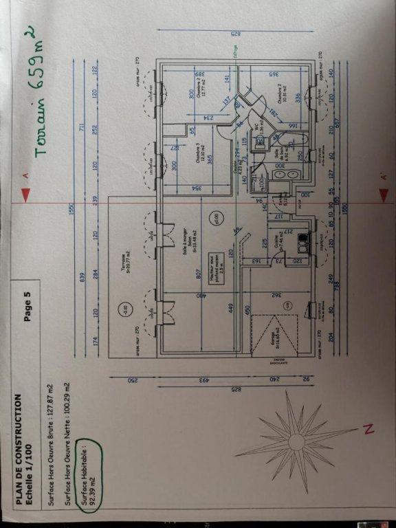 Maison à vendre 4 93m2 à Pompaire plan-1
