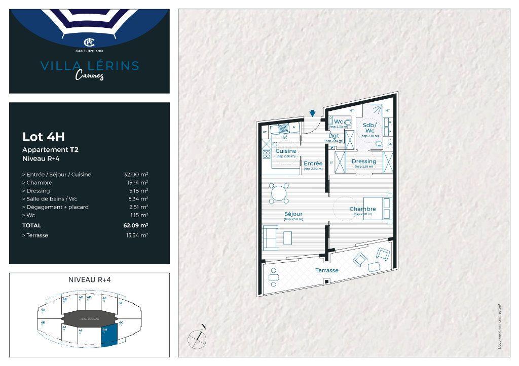 Appartement à vendre 2 62.09m2 à Cannes vignette-6