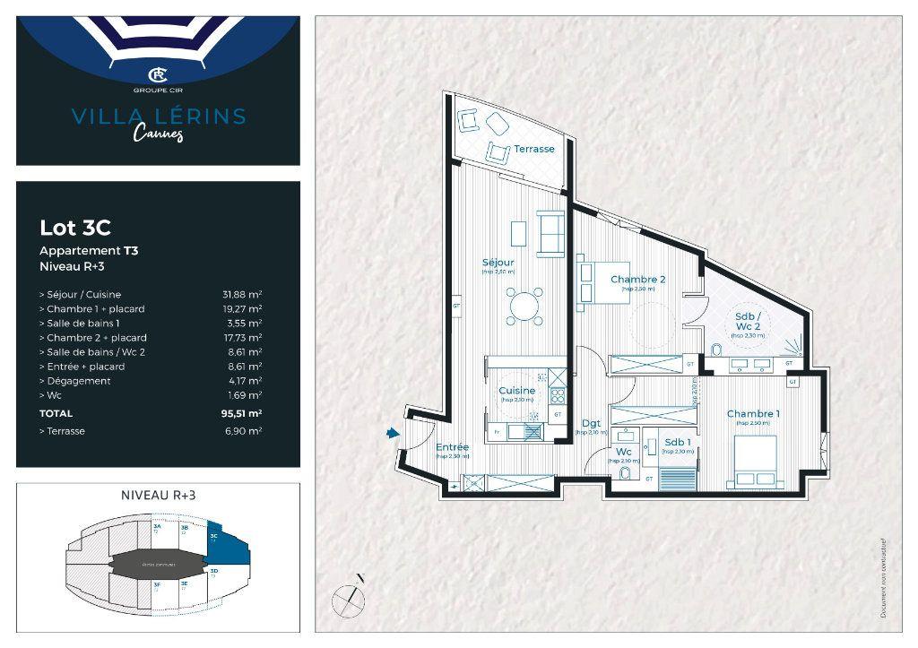 Appartement à vendre 3 95.51m2 à Cannes vignette-4