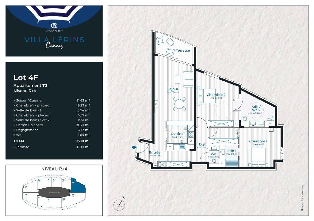 Appartement à vendre 3 95.18m2 à Cannes vignette-4