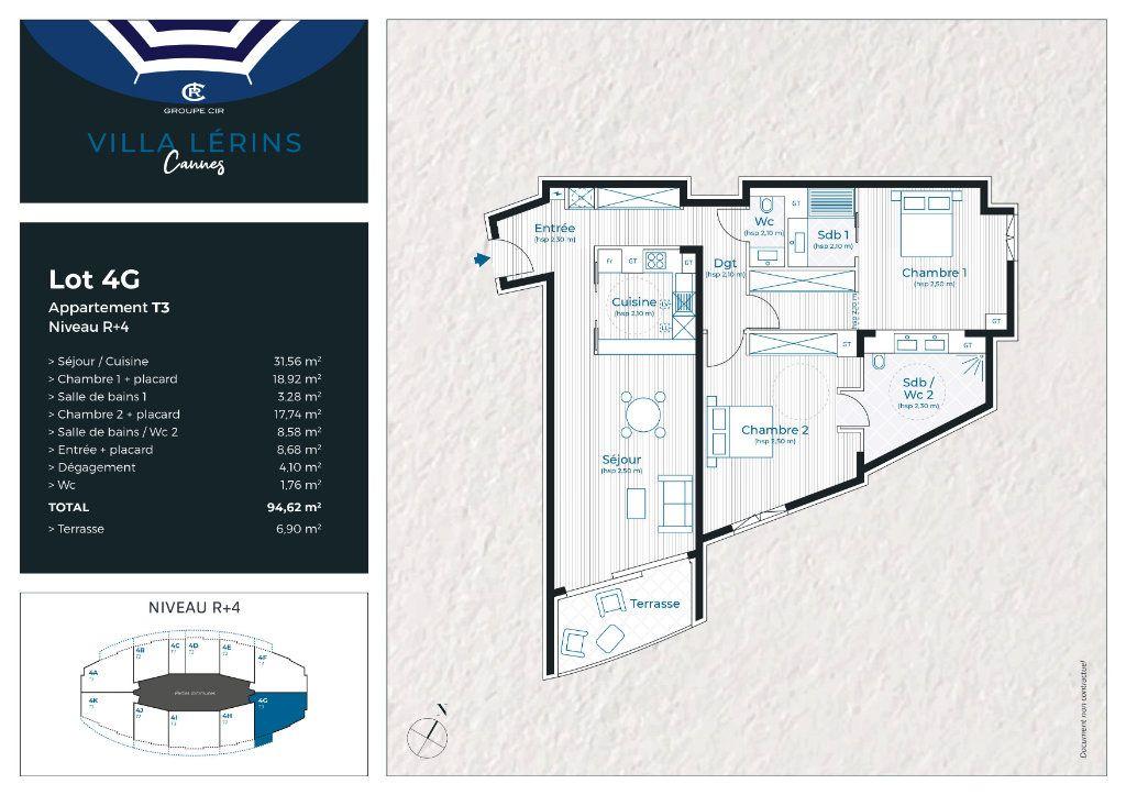 Appartement à vendre 3 94.62m2 à Cannes vignette-3