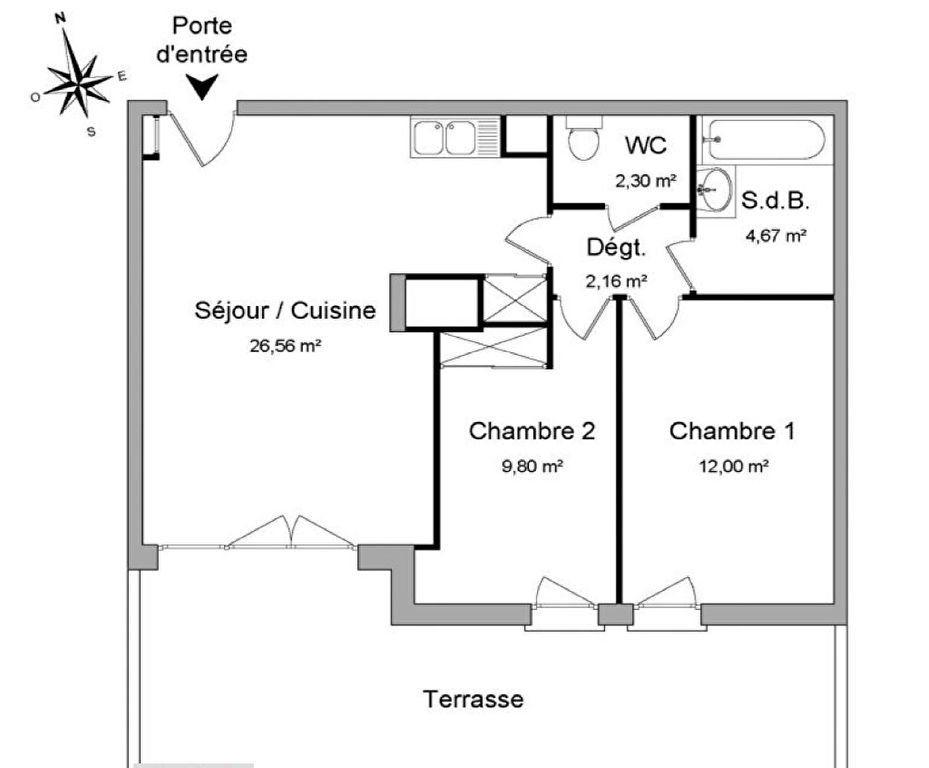 Appartement à vendre 3 58m2 à Marseille 12 vignette-12