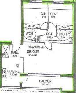 Appartement à vendre 3 60.15m2 à Istres vignette-2