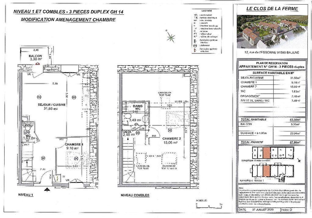 Appartement à vendre 3 63.5m2 à Baulne vignette-2