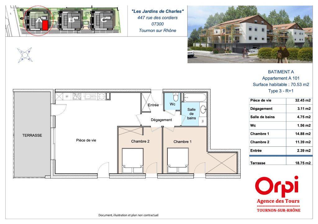 Appartement à vendre 3 70.53m2 à Tournon-sur-Rhône vignette-2