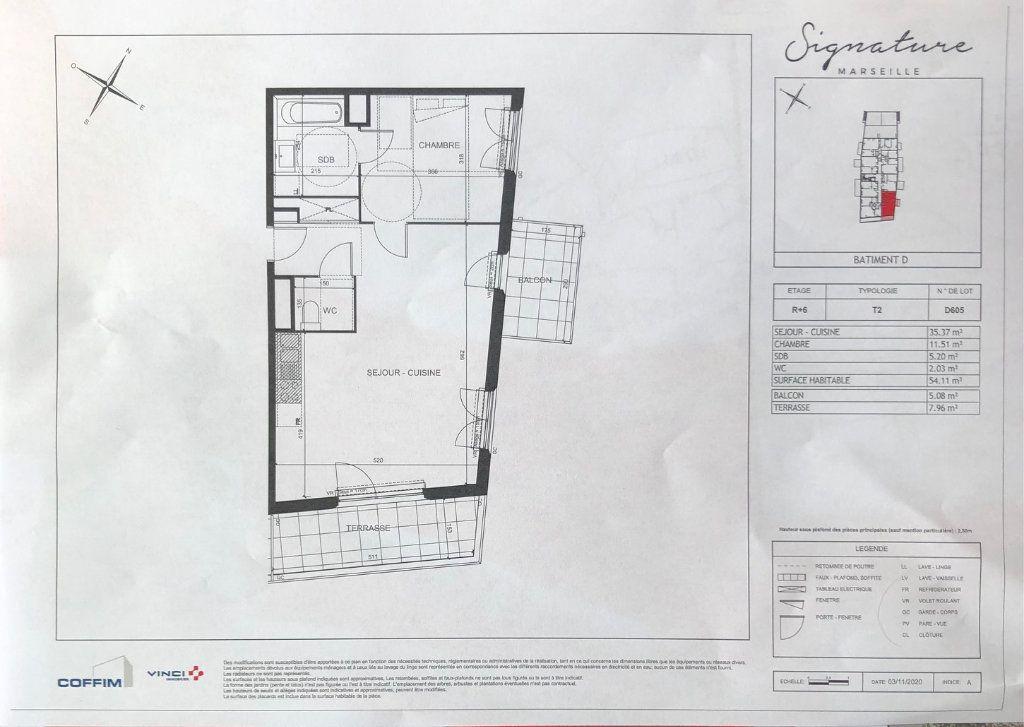 Appartement à vendre 2 37m2 à Marseille 9 vignette-2