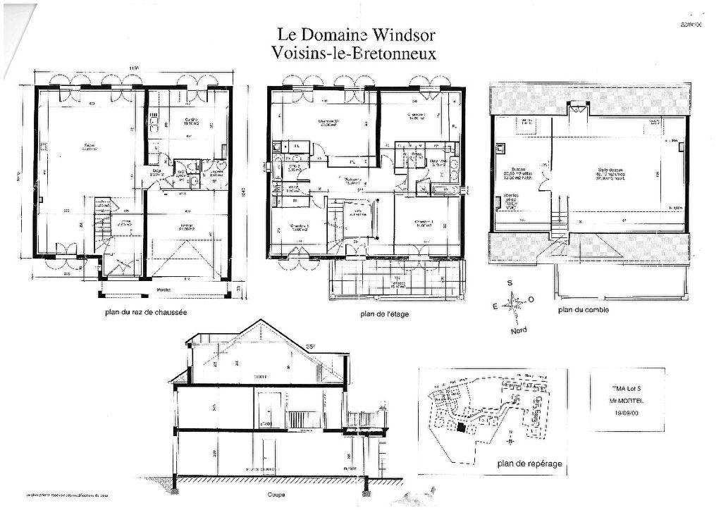 Maison à vendre 9 220m2 à Voisins-le-Bretonneux plan-1
