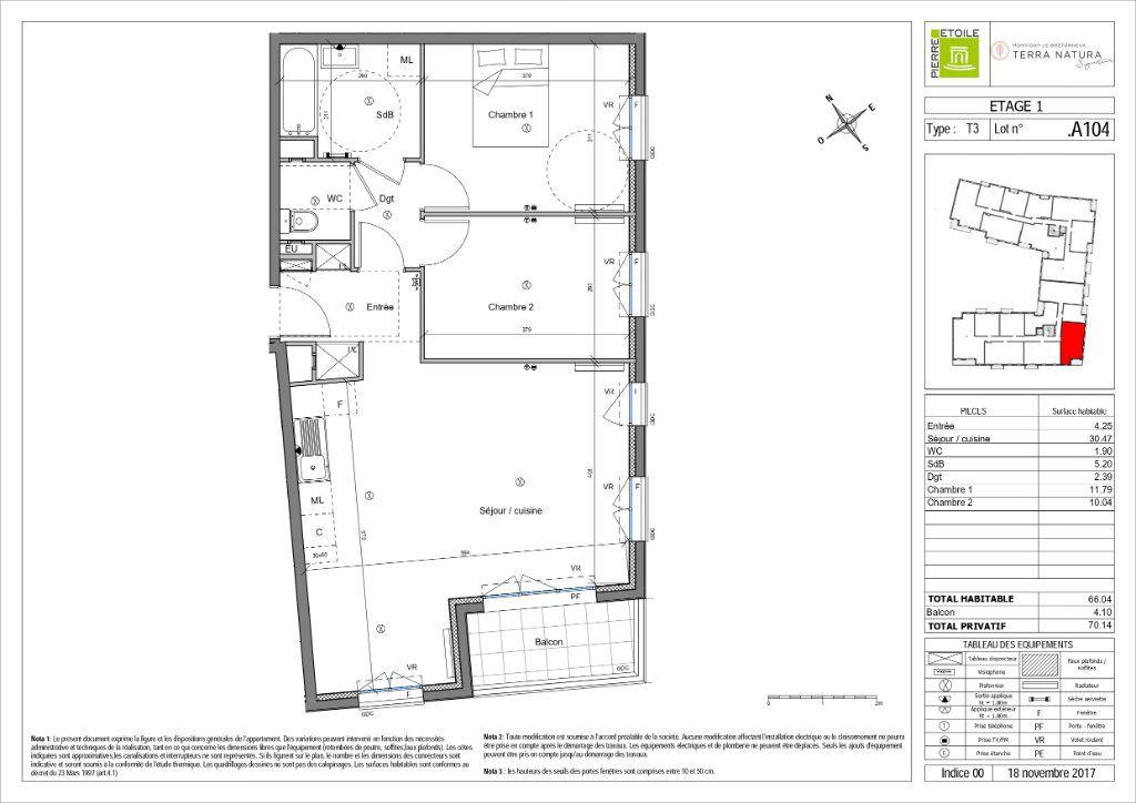 Appartement à vendre 3 66.04m2 à Montigny-le-Bretonneux vignette-3