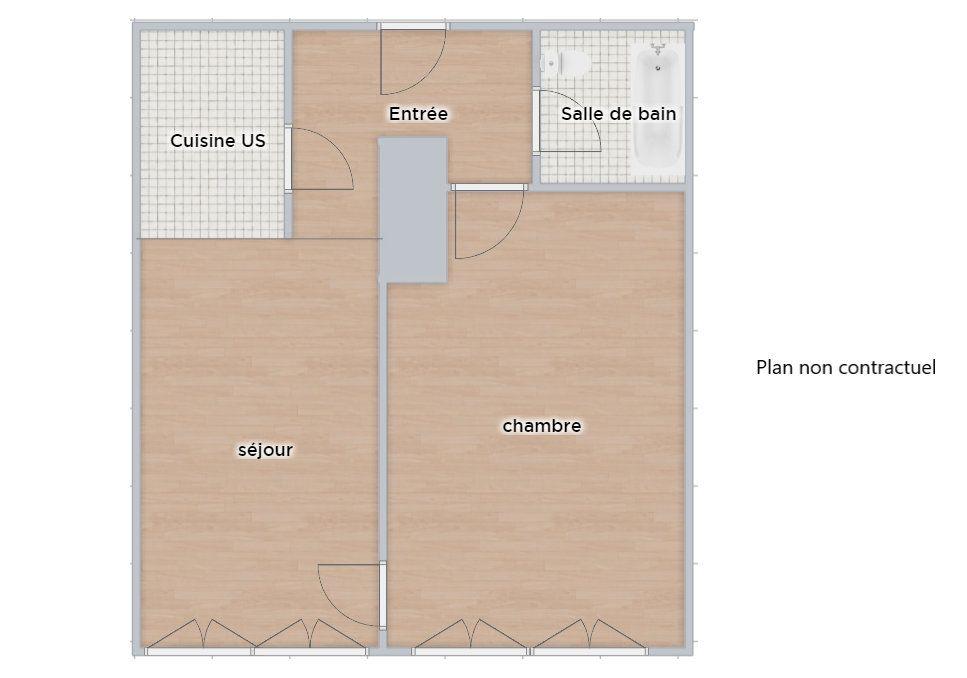 Appartement à vendre 2 53.93m2 à Paris 16 vignette-1