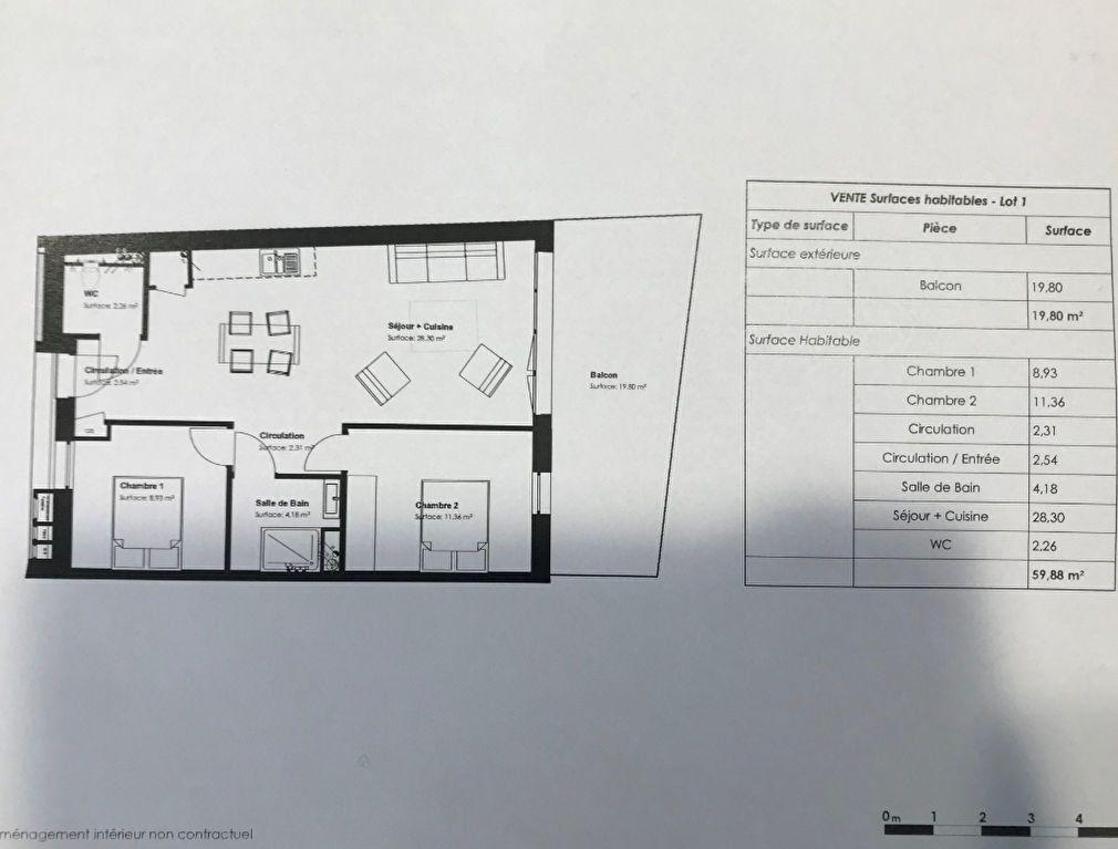 Appartement à vendre 3 59.88m2 à La Rochelle vignette-3