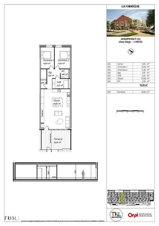 Appartement à vendre 3 79.33m2 à Mulhouse plan-1