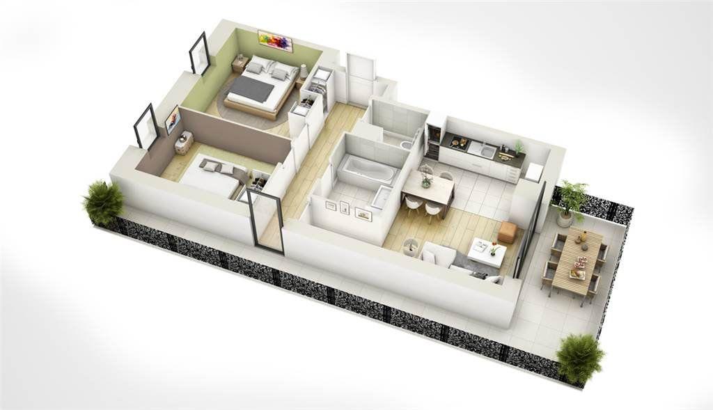 Appartement à vendre 2 48.3m2 à Pulversheim vignette-3