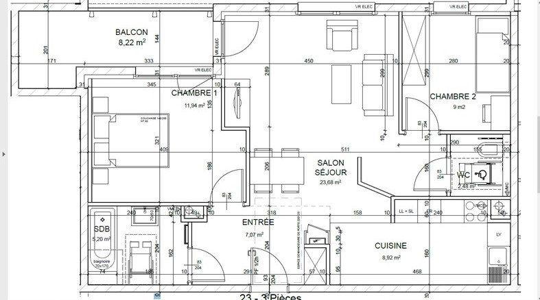 Appartement à louer 3 68m2 à Horbourg-Wihr vignette-1