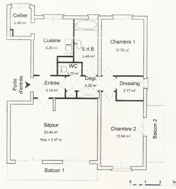 Appartement à vendre 4 73m2 à Perpignan plan-1