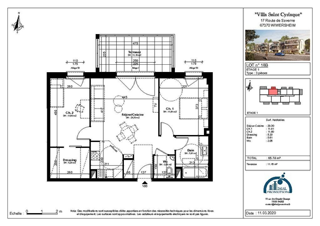 Appartement à vendre 3 65.78m2 à Wiwersheim vignette-2