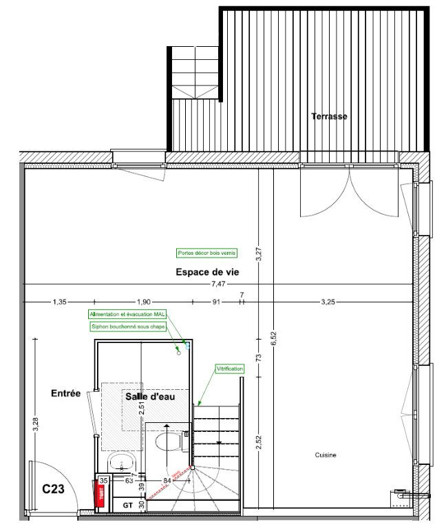 Appartement à vendre 4 83.6m2 à Wintzenheim-Kochersberg vignette-3
