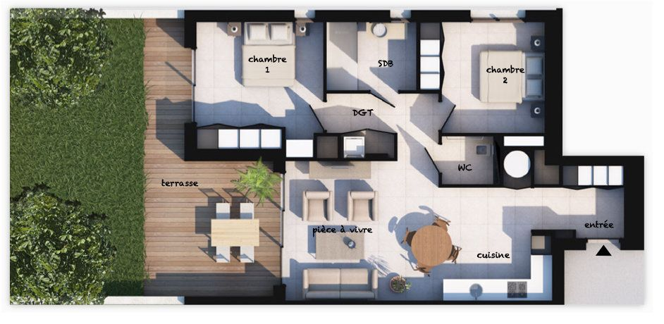 Appartement à vendre 3 70.32m2 à Lecci vignette-1