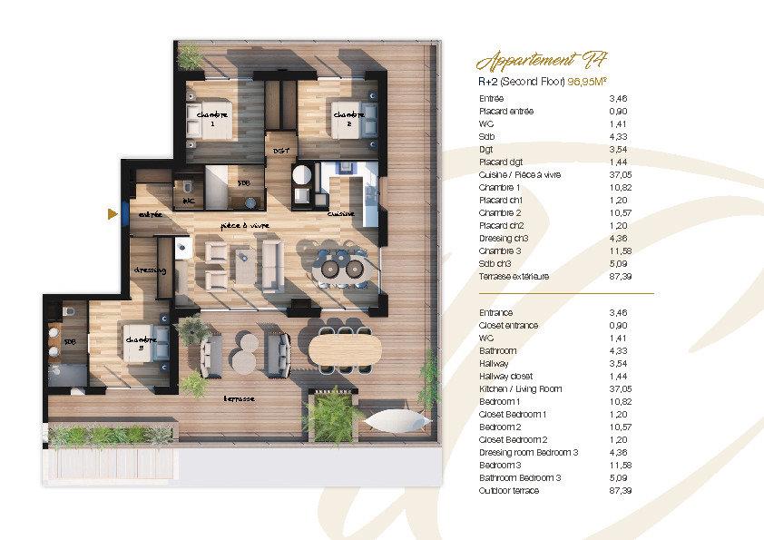 Appartement à vendre 4 105.77m2 à Lecci vignette-6