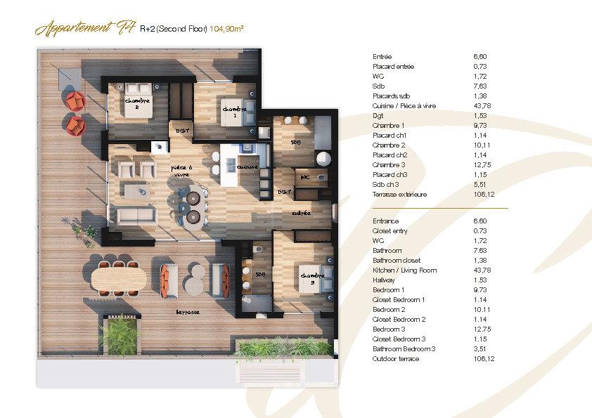 Appartement à vendre 4 105.77m2 à Lecci vignette-7