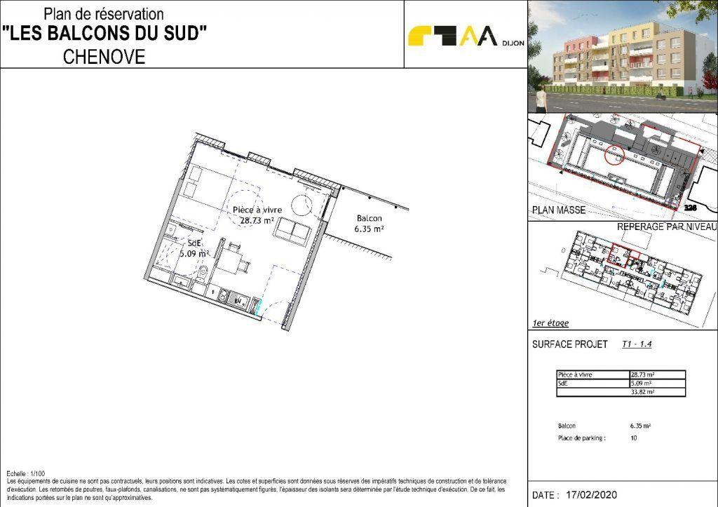 Appartement à vendre 1 33.82m2 à Chenôve vignette-2