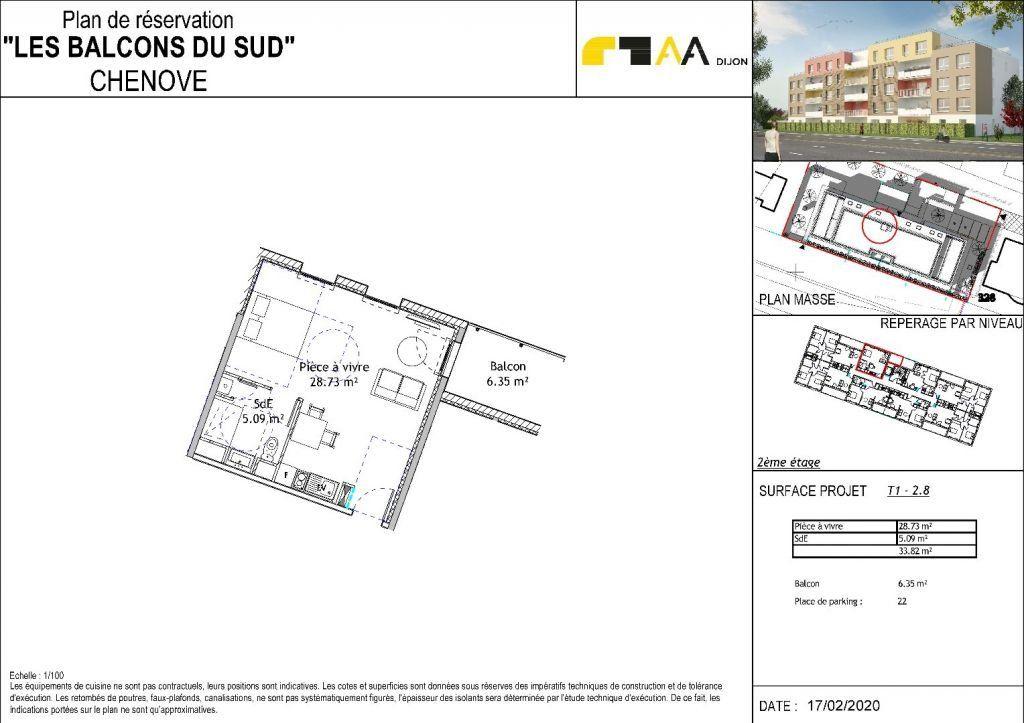 Appartement à vendre 1 33.82m2 à Chenôve vignette-3