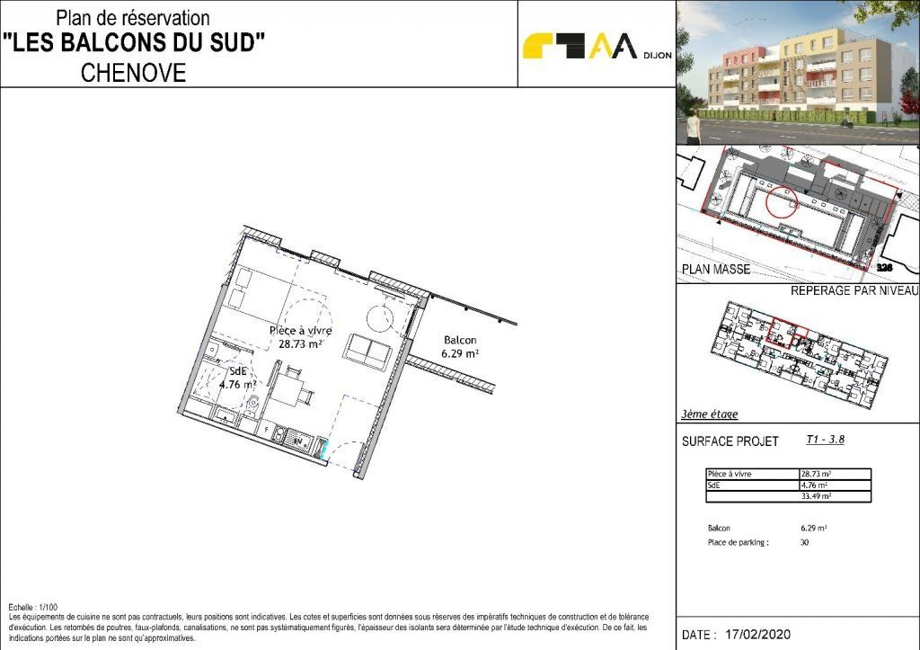 Appartement à vendre 1 33.82m2 à Chenôve vignette-4