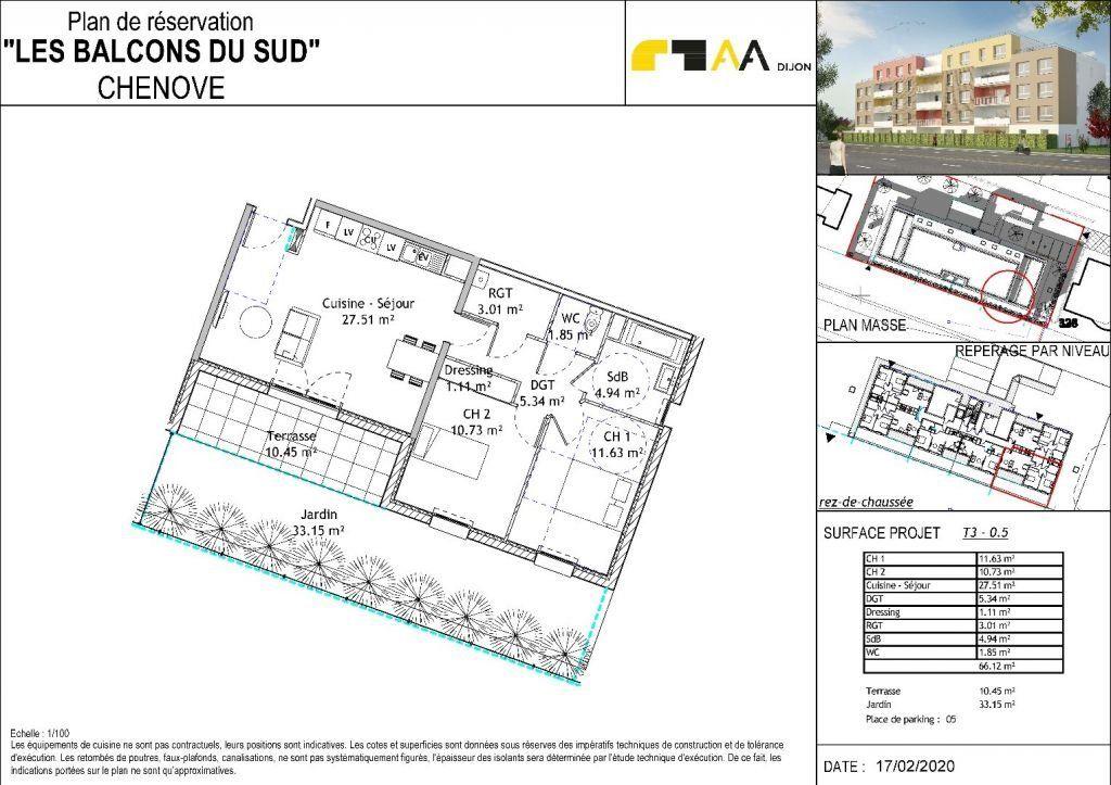 Appartement à vendre 3 65.96m2 à Chenôve vignette-2
