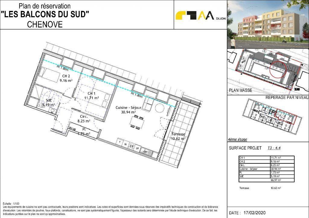 Appartement à vendre 3 65.96m2 à Chenôve vignette-3