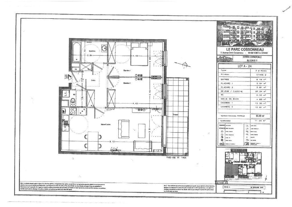 Appartement à louer 3 66.3m2 à Noisy-le-Grand vignette-2