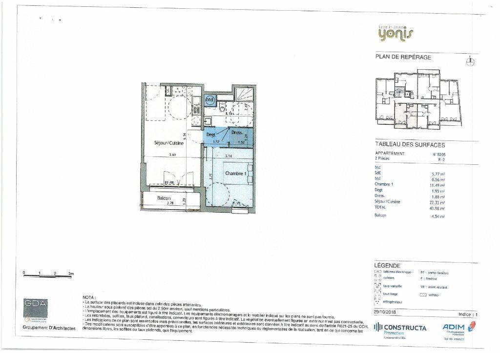 Appartement à louer 2 43.98m2 à Noisy-le-Grand vignette-1