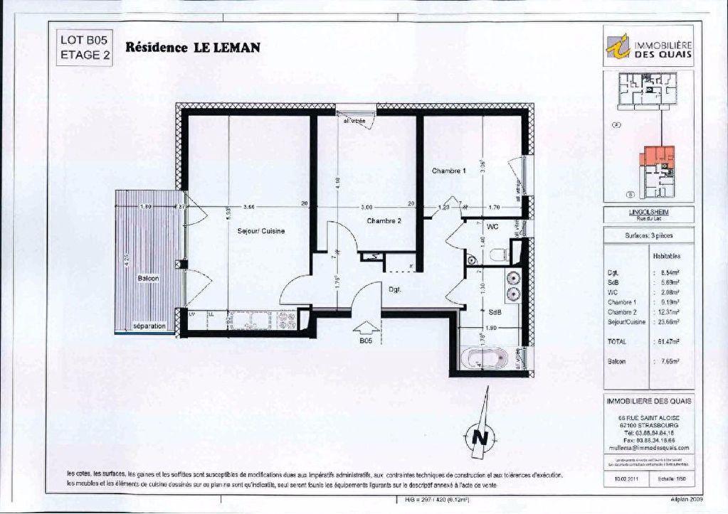 Appartement à louer 3 61.47m2 à Lingolsheim vignette-11