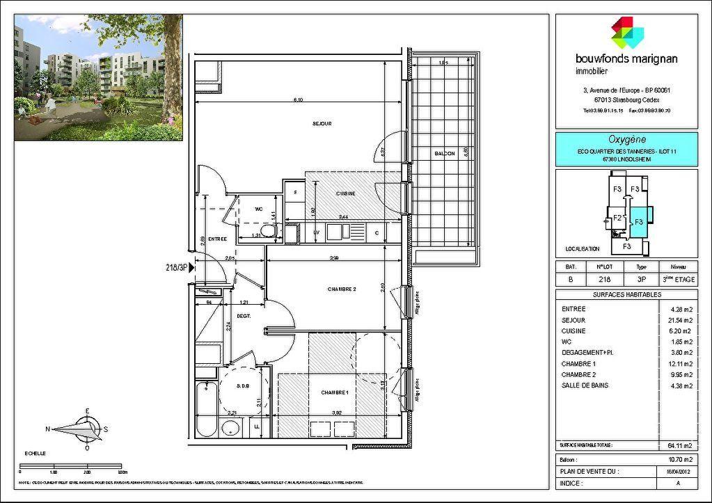 Appartement à louer 3 64.11m2 à Lingolsheim vignette-8