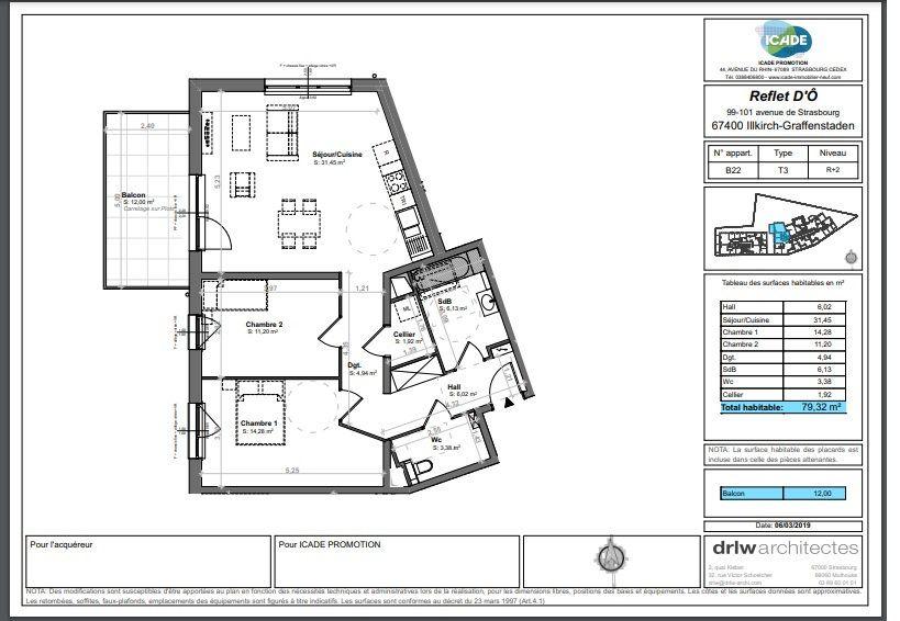 Appartement à louer 3 79.32m2 à Illkirch-Graffenstaden vignette-5