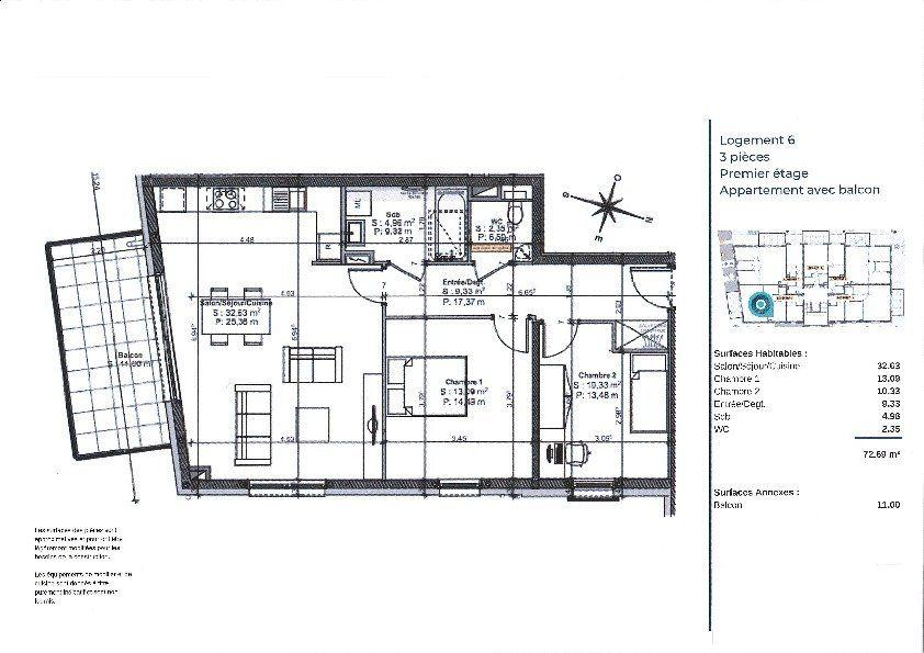 Appartement à vendre 3 72.6m2 à La Walck vignette-3