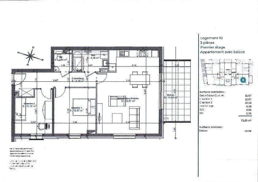 Appartement à vendre 3 73.4m2 à La Walck vignette-3
